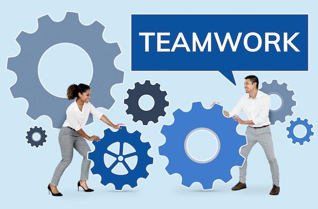 Mensen uit het bedrijfsleven gericht op teamwerk Gratis Foto