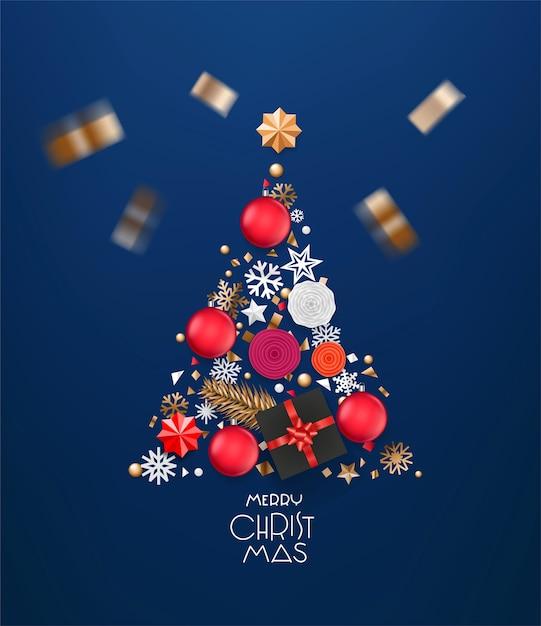 Merry christmas wenskaart Premium Foto