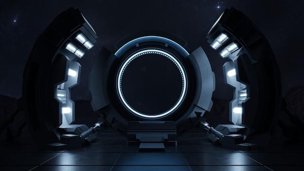Met de snelheid van het licht door de deur van de toekomst reizen. Gratis Foto