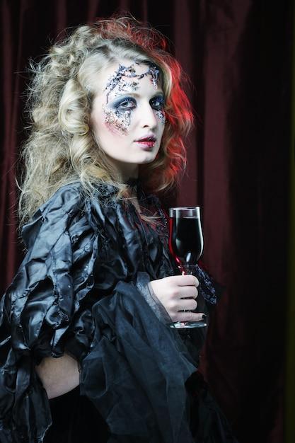 Met rode wijn Premium Foto