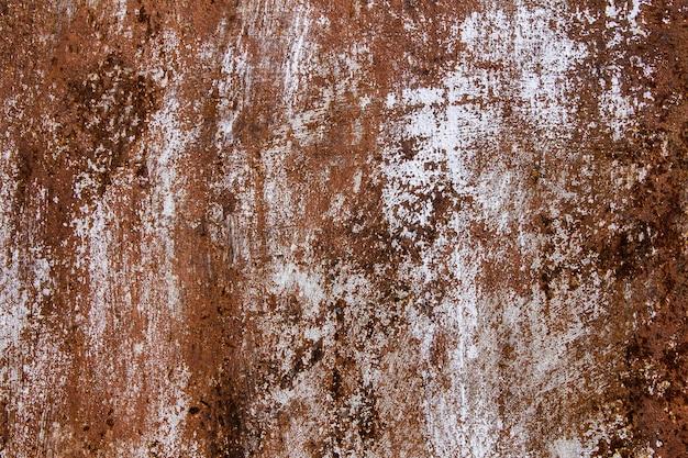 Metaal aangetaste textuurachtergrond. roestig verweerd beschilderd laken Premium Foto