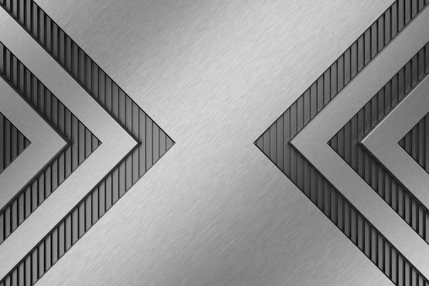 Metalen achtergrond. 3d-weergave Premium Foto