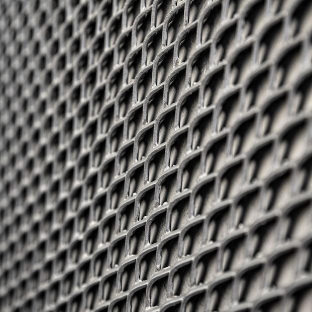 Metalen hek als achtergrond in grijstinten Gratis Foto