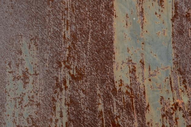 Metalen roest achtergrond, verval staal, metalen textuur met kras en barst Premium Foto