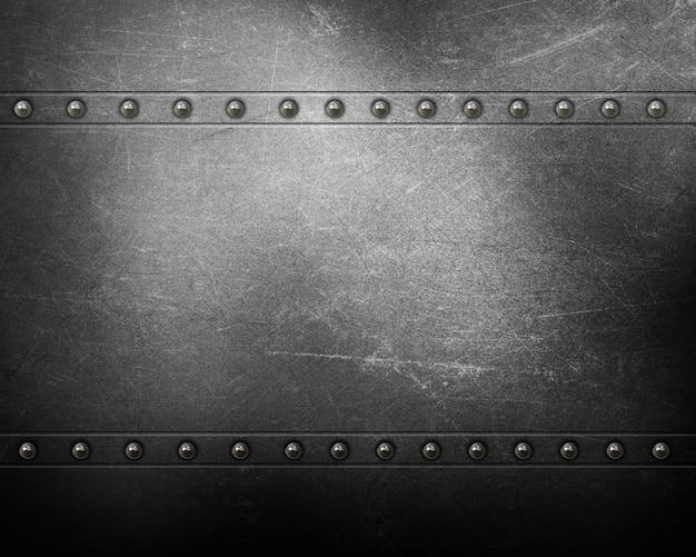 Metalen textuur achtergrond met klinknagels Gratis Foto