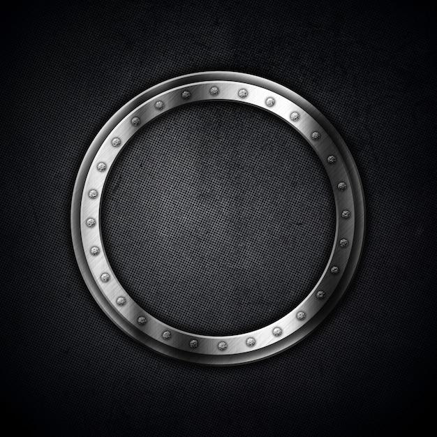 Metallic achtergrond met een ronde frame Gratis Foto