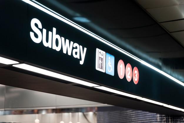 Metro teken close-up Gratis Foto