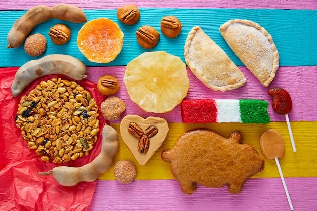 Mexicaanse zoetigheden en gebakjes cajeta tamarindo Premium Foto