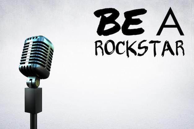 Microfoon met een motiverende boodschap Gratis Foto