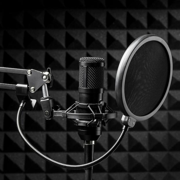 Microfoon met popbreker Premium Foto