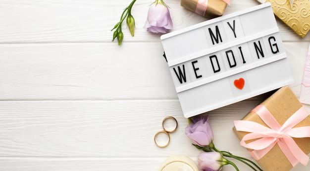 Mijn bruiloft hartsymbool kopie ruimte Gratis Foto
