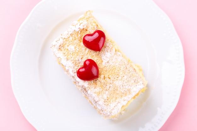Mille feuille cake met vanillecrème Premium Foto