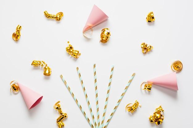 Mini feestmutsen met gouden linten Gratis Foto
