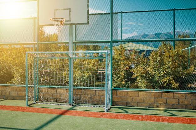 Mini voetbaldoel Premium Foto