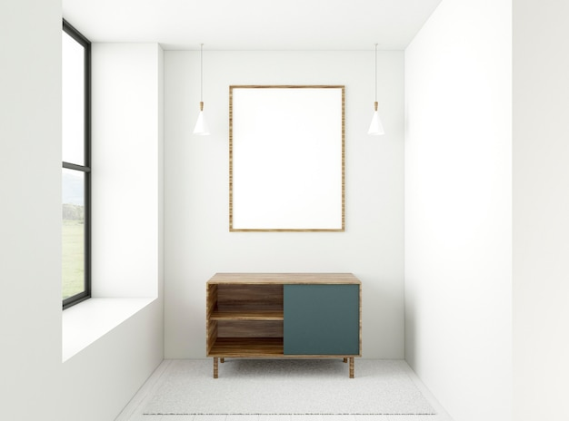 Minimale 3d-kamer met elegant frame Gratis Foto