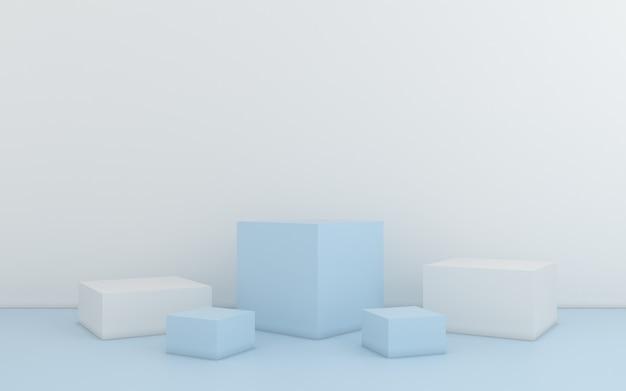 Minimale abstracte geometrisch. 3d-rendering Premium Foto