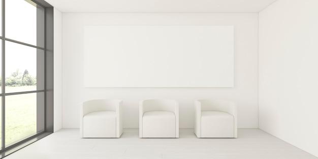 Minimalistisch interieur met elegant frame en fauteuils Gratis Foto