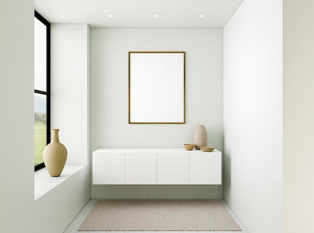 Minimalistisch interieur met elegant frame Premium Foto