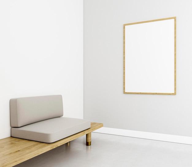 Minimalistisch interieur met elegant frame Gratis Foto