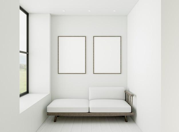 Minimalistisch interieur met elegante lijsten Gratis Foto