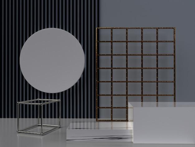 Minimalistische 3d-rendering abstracte geometrische vorm. Premium Foto
