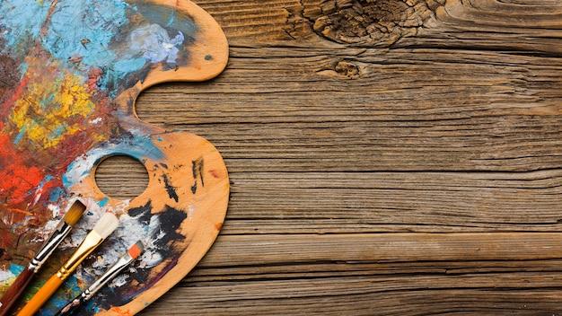 Minimalistische artistieke verf kopie ruimte Gratis Foto