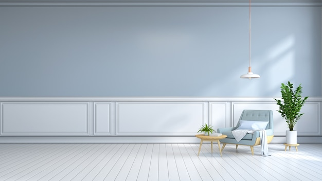 Minimalistische binnenkamer Premium Foto