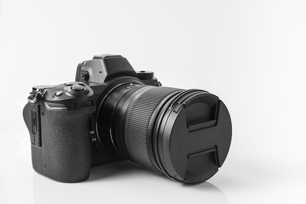 Mirroless full-frame camera, met een lens van 24 - 70 mm. Premium Foto