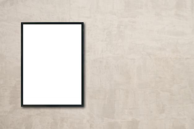 Mock up blanco poster foto frame op de muur in de kamer hangen Gratis Foto