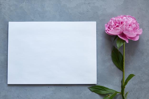 Mockup. blanco wit papier voor tekst. Premium Foto