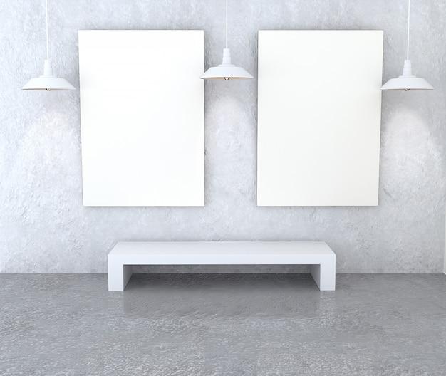 Mockup galerij interieur. Premium Foto