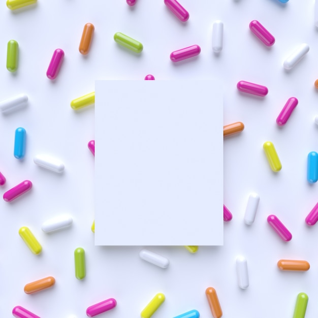 Mockup met kleurrijke capsule Premium Foto