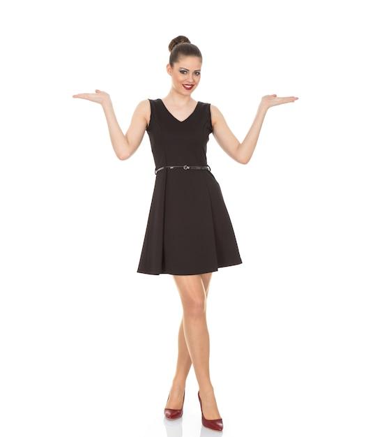 Meisje In Een Zwarte Download Jurk Model FotoGratis XuZTPiOk
