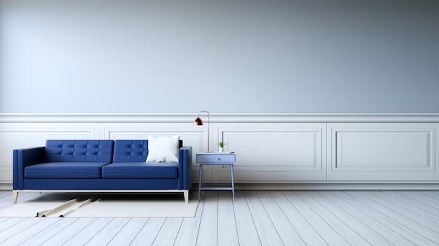 Modern binnenland van woonkamer met leunstoelen op witte bevloering ...