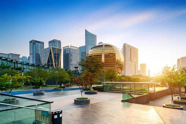 Modern gebouw in hangzhou Premium Foto