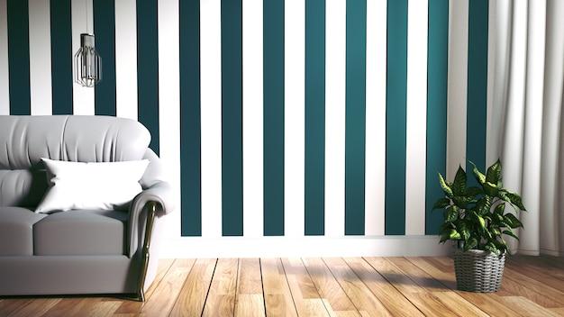 Modern interieur - Woonkamer en Soft Sofa op de muur donker | Foto ...