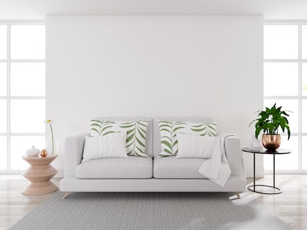 Modern midden van de eeuw woonkamer interieur Premium Foto