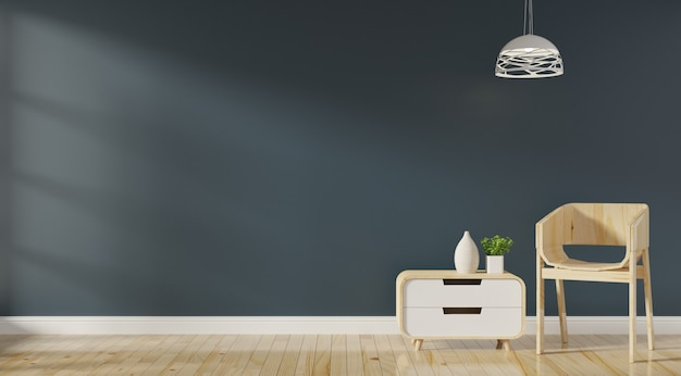 Modern woonkamerbinnenland met bank en lamp Premium Foto