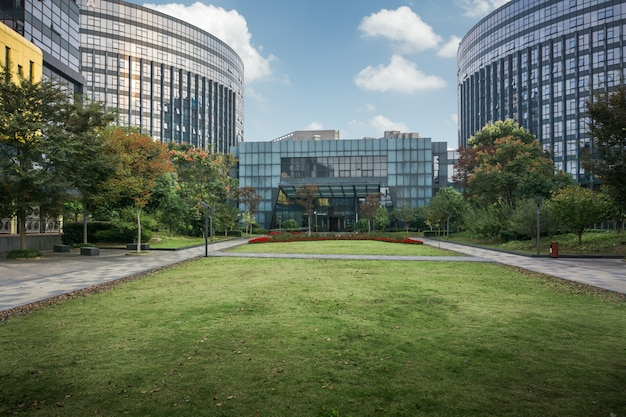 Modern zakelijk gebouw in china Premium Foto