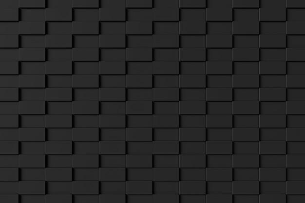 Moderne bakstenen muur. 3d-weergave Premium Foto