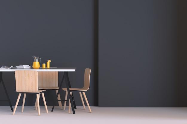 moderne donkere woonkamer met bank en meubilair je ontspannen voelen premium foto