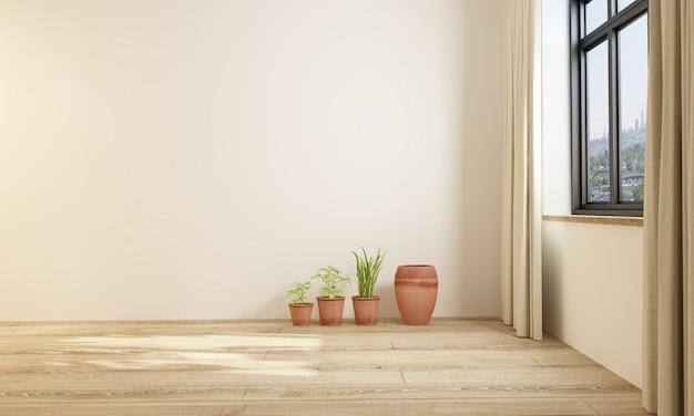 Moderne eenvoudige stijl indoor meubels blinde muur Premium Foto