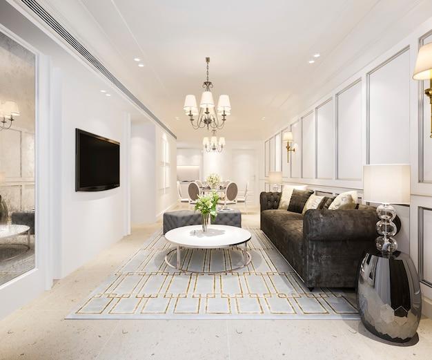 Moderne eetkamer en woonkamer met luxe inrichting Gratis Foto