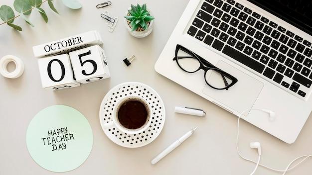 Moderne gelukkige lerarendag concept Premium Foto
