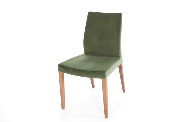 Moderne levensstijl meubilair stoel witte achtergrond Gratis Foto