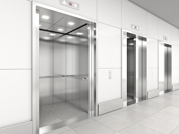 Moderne lift 3d Premium Foto