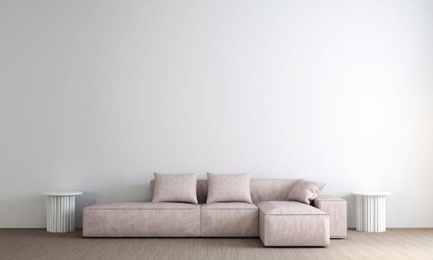 Moderne luxe lounge en woonkamer interieur en witte muur textuur Premium Foto