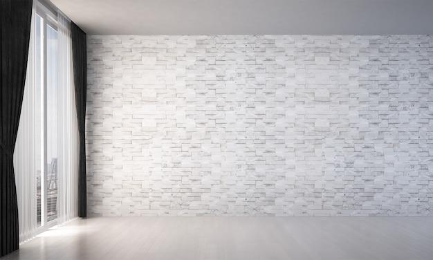 Moderne luxe woonkamer interieur en wit marmeren textuur muur patroon Premium Foto