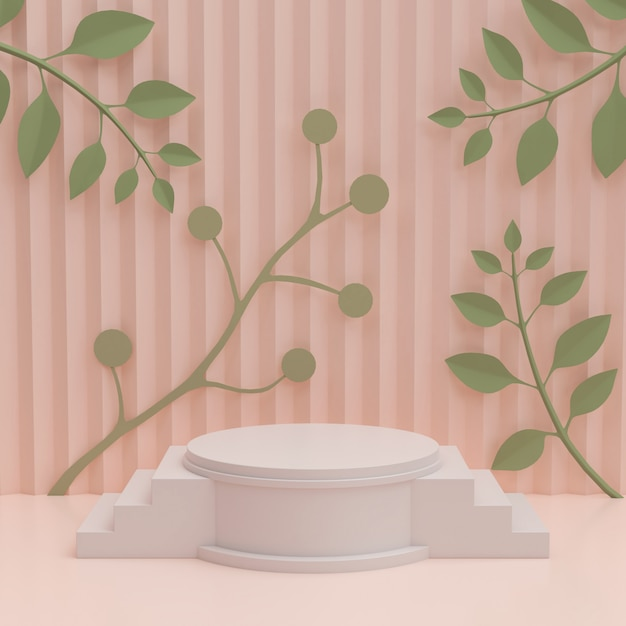Moderne minimalistische mockup voor podiumweergave of showcase. Premium Foto