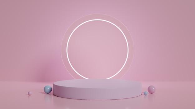 Moderne minimalistische podiumweergave Premium Foto